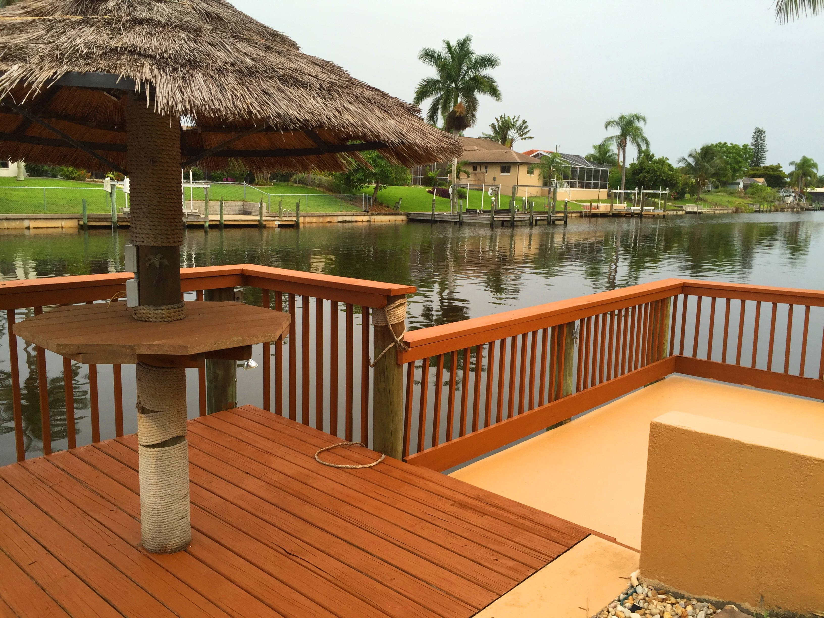Cape Escape Oasis gulf access Tiki dock
